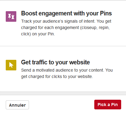 start a compain in pinterest