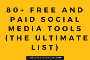 Social Media Tools : The Ultimate List
