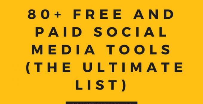 Social Media Tools : The Ultimate List
