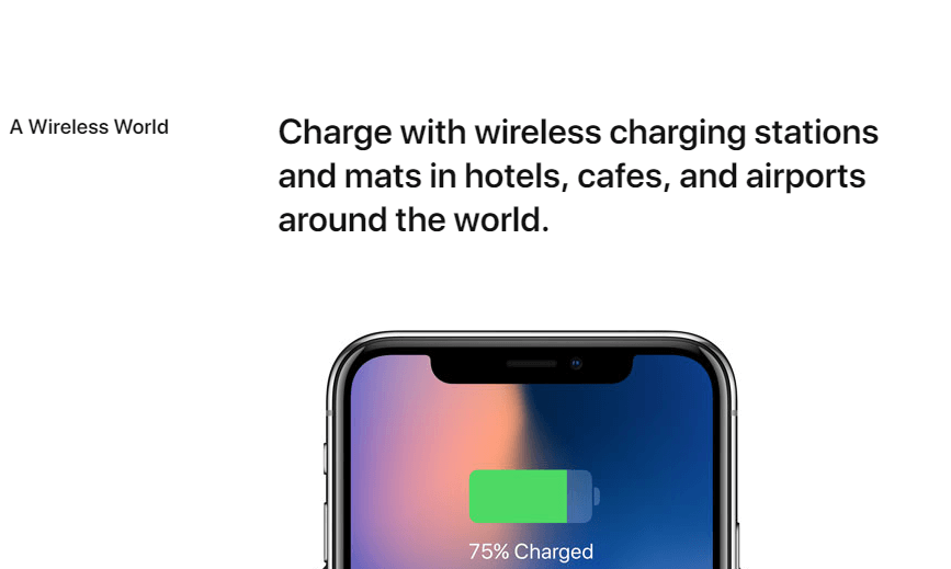 iphone x ad copy charging
