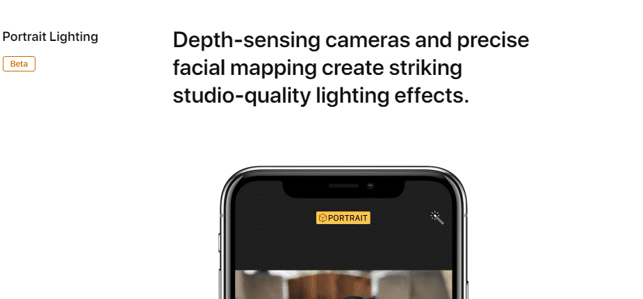 iphone x ad copy portrait