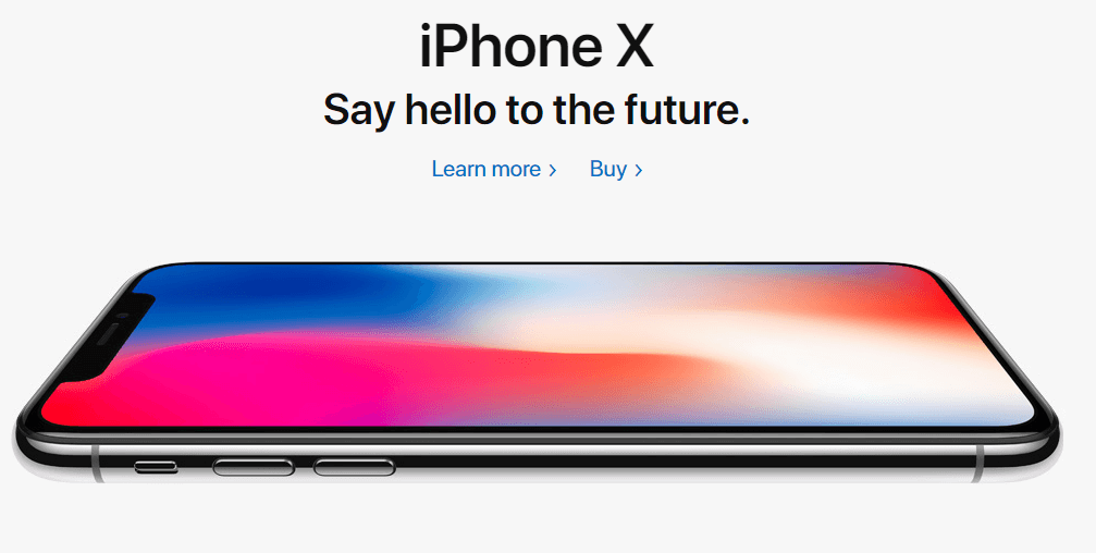 iphone x ad copy