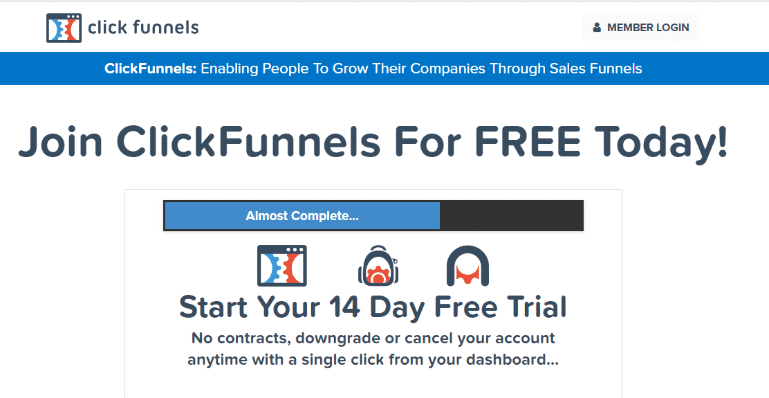 Clickfunnel 14 days Trial