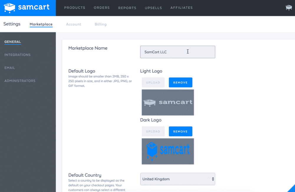 SamCart Dashboard