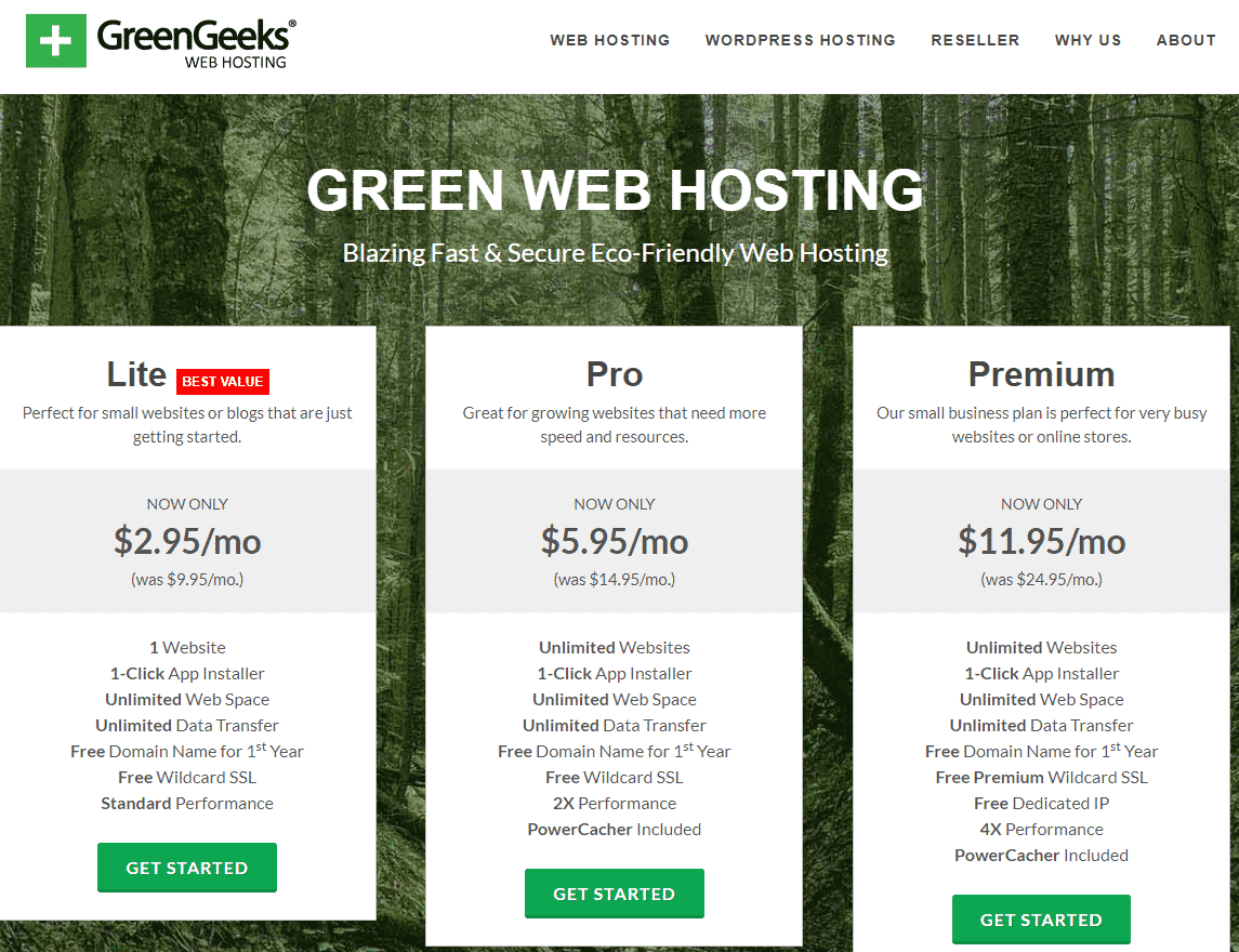 greengeeks hosting plans