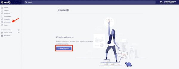 create discounts in Shopify