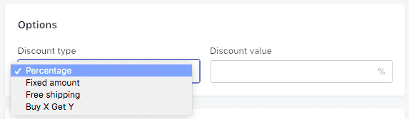 shopify types of promotions