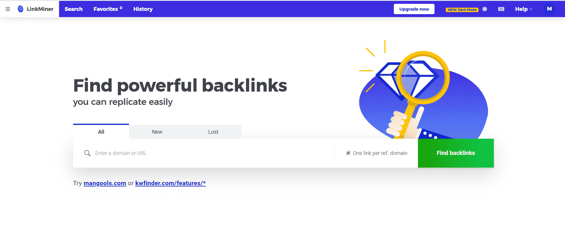 Backlinks Kwfinder