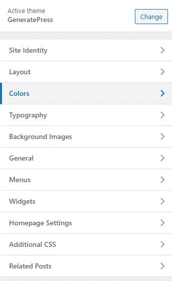 Color GeneratePress Pro Version