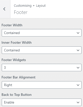 Footer Navigation GeneratePress