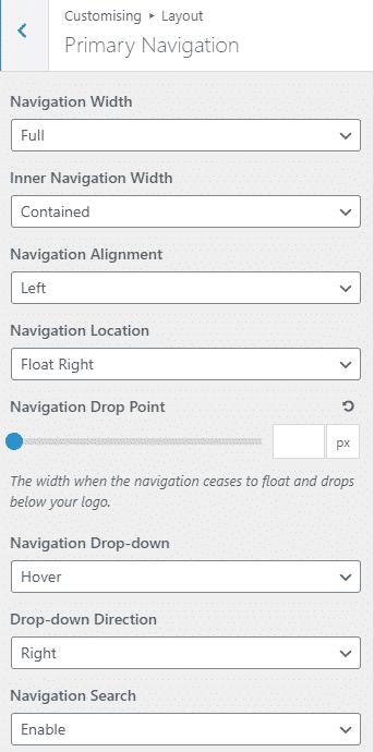 Primary Navigation GeneratePress