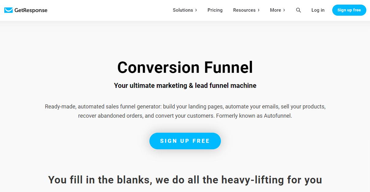 GetResponse Funnel