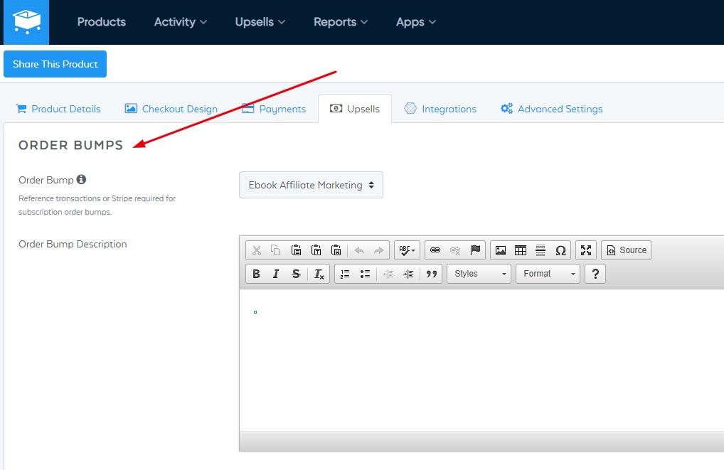 Order bump Example in Samcart (1)