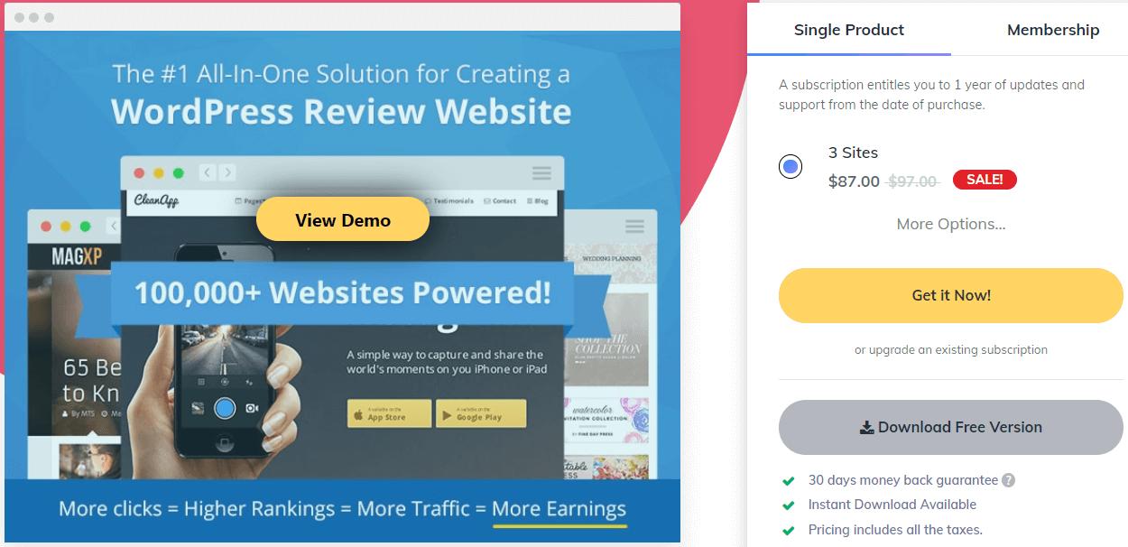 wordpress review Pro