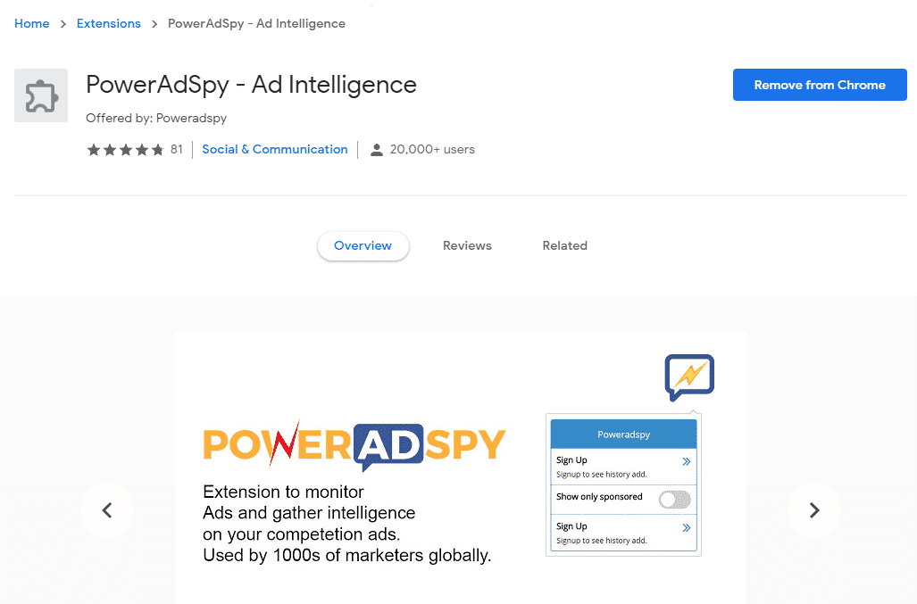 poweradspy chrome extension (1)