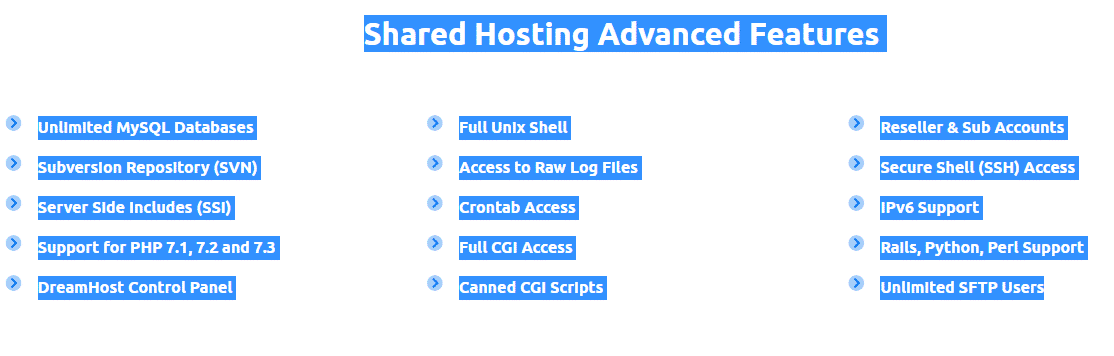 DreamHost Advanced Features (1)