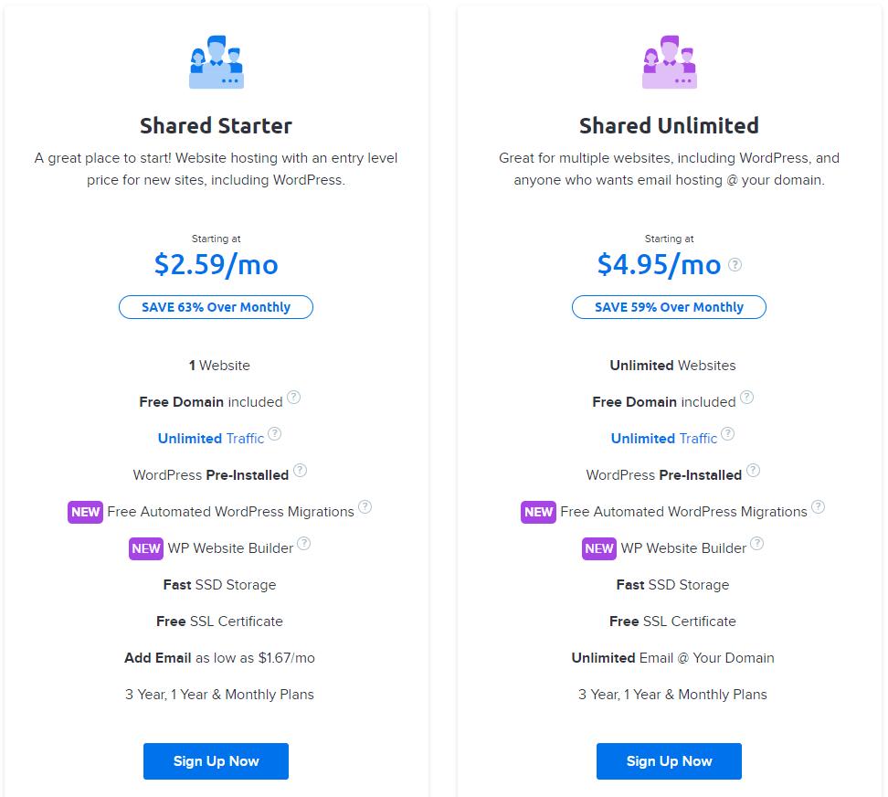 DreamHost hosting plans (1)