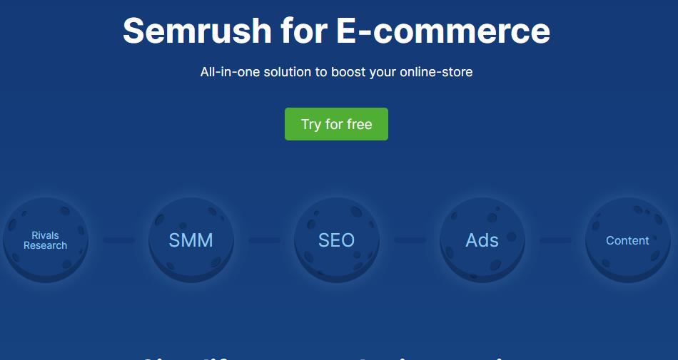 SemRush for ecommerce .