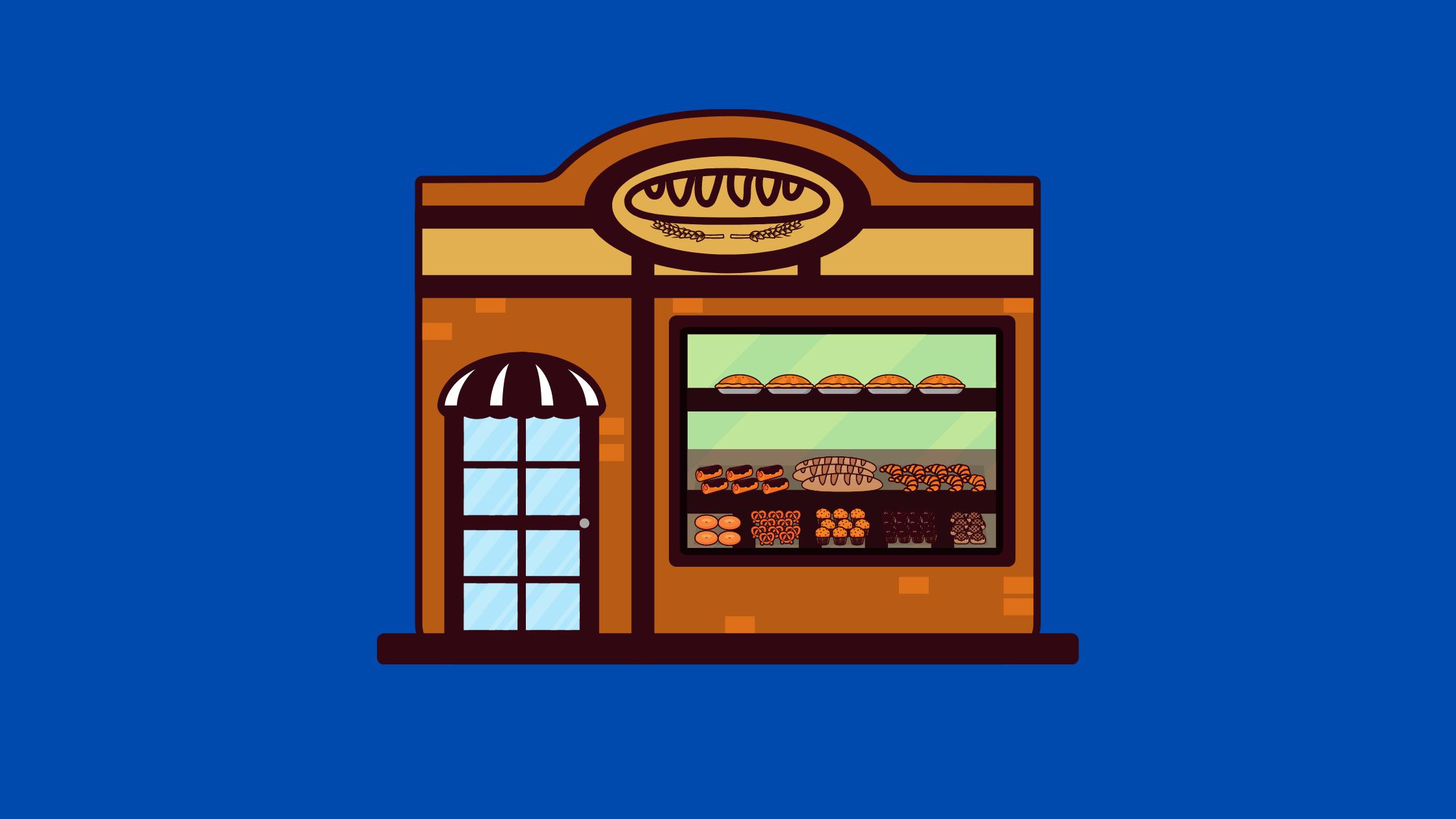 BakeryCustom CakesSnacks Shop
