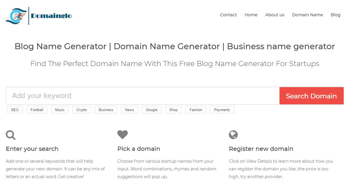Domainglo Domain generato