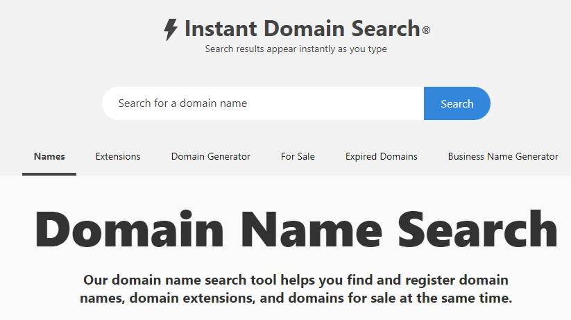 instantdomainsearch